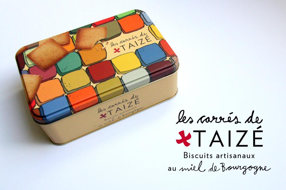 Les carrés de Taizé -  homemade biscuits with Burgundy honey