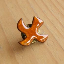 Dove pendant (Pins n°95) - Orange