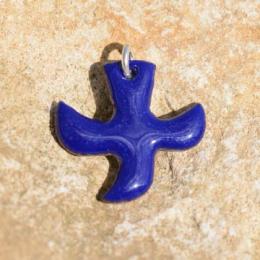 Dove pendants with cord (2 x 2 cm) - Dark Blue