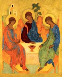 Icon on wood, 384 medium size - Holy Trinity