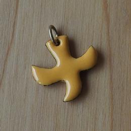 Dove pendant with cord (n°71) - Orange