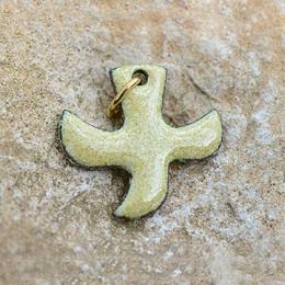 Pendentifs avec cordon, croix « colombe » (n°P35) - Sable
