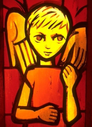 Icon on wood, 210 small - Stained-glass window: Isaac