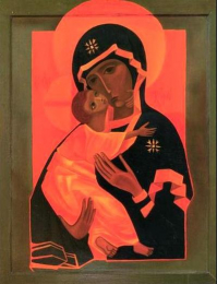 Icon on wood, 301 small – The Virgin and Child