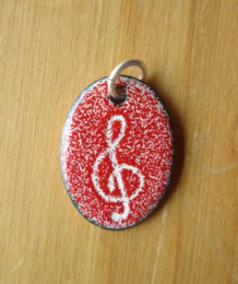 Pendant with cord (n°56) Red