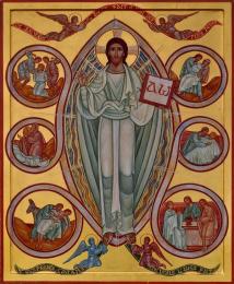 Icône sur carton, taille moyenne - Icône de la miséricorde