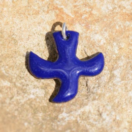 Dove pendants with cord (3 x 3 cm) - Dark Blue