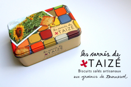 Les carrés de Taizé - homemade biscuits with sunflower seeds