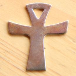 Cross pendants with cord (3 x 3,50 cm) - Silver