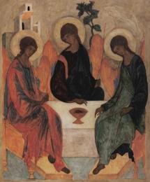 Icon on cardboard, 384 medium size - Holy Trinity