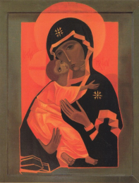 Icon on wood, 301 medium size – The Virgin and Child