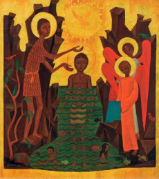 Icon on wood, 385 small size - Baptism