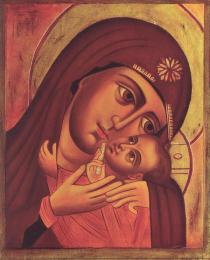 Icon on wood, 387 small - Virgin of Korsum